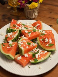 Watermelon with Feta, Mint and Chile recipe from Food Network Specials via Food Network