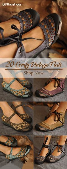 SHOP Comfy Vintage Flat Shoes for Your Daily Outfits Must Have It! Comfy Shoes, Cute Shoes, Me Too Shoes, Zapatos Shoes, Shoes Sandals, Flat Shoes, Strappy Sandals, Heels, Fashion Shoes