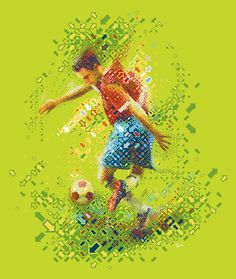 RGB soccer by tsevis, via Flickr Soccer Art, Creative Suite, Illustrations Posters, Good Music, Futuristic, Mosaic, Football Stuff, Graphic Design, Pattern