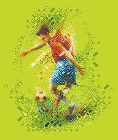 RGB soccer by tsevis, via Flickr