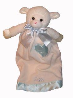 My Sweet Dreams Baby - Personalized Baby Lovies - Blue Lamb (http://www.mysweetdreamsbaby.com/securityblankets/lovey.htm)