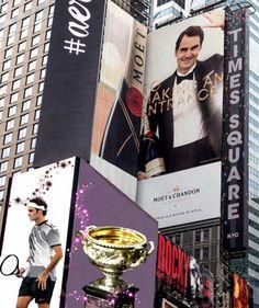 Roger Federer Times Square