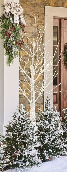 Covered in nearly 3,000 LED lights, our Sparkle Winter Bark Tree is sure to add serious curb appeal to your outdoor holiday display. Lights are securely wrapped around the molded white trunk, limbs and branches and are approved for both indoor and outdoor use.
