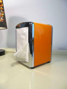 Metal Napkin Holder  Dinner Paper Napkins Holder Orange Color by LaLanterne on…
