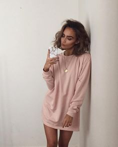 "48442e4c80 Alicia Roddy on Instagram  ""Sweatshirt dresses are the ultimate comfort 💤  search  oversized sweater dress  if you re looking for it"