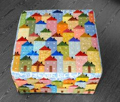 The Trunk of Patchwork: SALT HOUSES. I love this. No pattern, but it looks like it is just made from log cabin blocks. Could I figure this out?