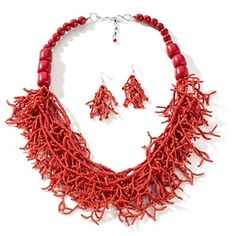"""coral colored jewelry pinterest 