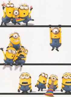 Look who dropped in! Minion wallpaper is now available. Perfect for any Despicable Me fan. Great for a kid's bedroom or playroom. Cute Minions Wallpaper, Cute Disney Wallpaper, Kids Wallpaper, Cute Cartoon Wallpapers, Bedroom Wallpaper, Amor Minions, Minions Despicable Me, My Minion, Minions Quotes