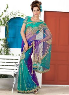 Cbazaar Amazing Multicolored Ready Pleated Saree