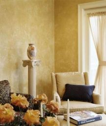 Sponge painted finishes can look timeless when done right