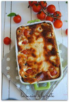 ☆...☆...☆... .......................... Clafoutis aux tomates cerises, olives et parmesan