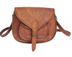 Joli sac à dos en cuir véritable pleine fleur style vintage bohème