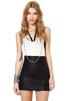 After Party Vintage Night Ride Leather Skirt  |  Nasty Gal