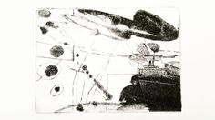"""'Passages' 1/1/10 Laurie Mackie Loen  carborundrum, etching, chine colle 11x13"""" nfs"""
