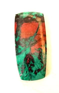 Sonora Sunrise Chrysocolla | Sonora Sunrise Chrysocolla and Cuprite Freeform Cabochon - This is ...