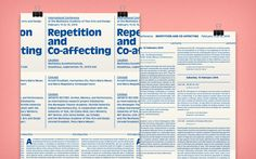 """Programme leaflet for the international conference """"Repetition and Co-affecting."""" #AntiqueOlive #Muthesius #Symposium #Exhibition #2014"""
