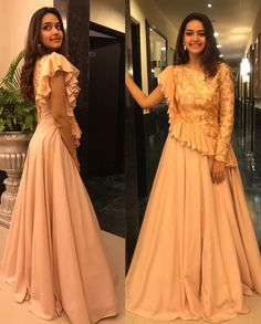 Indian Designer Outfits, Designer Dresses, Netted Blouse Designs, Saree Gown, Rajputi Dress, Frock For Women, Sleeves Designs For Dresses, Nose Jewelry, Fashion Dresses