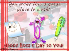 boss's day pic | Great Working With You! Free Happy Boss's Day eCards, Greeting Cards ...