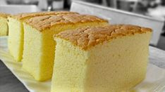 """Ogura cake, aka 相思蛋糕, hails from Batu Pahat , Malaysia. """"Ogura"""" is a Japanese surname; """"相思"""" means lovesick. Is there a love story behind th. Food Cakes, Cupcake Cakes, Cupcakes, Cake Videos, Food Videos, Bolo Chiffon, Ogura Cake, Cake Recipes, Dessert Recipes"""