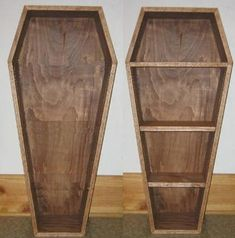 Here are the plans and how-to for building a coffin, makes a good Halloween prop - then finish it off and make a creepy cool bookshelf! - Link. Related: A Short History of Security Coffins - Link.H...