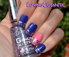 Glitter Nails  Flormar nail polish  http://lovingcosmetic.blogspot.com.es/2014/11/flormar-genius-glitter-collection-nail.html
