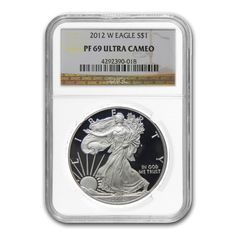 2012 W 1 oz Silver American Eagle $1 Coin NGC PF 69 UCAM | Bullion Exchanges