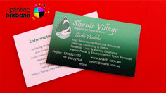 Sherlock safety and workwear have great colours on their business these business cards are for shanti village printing services brisbane reheart Gallery