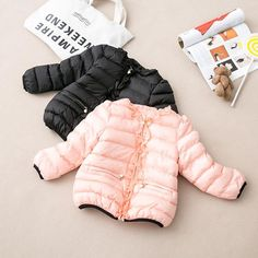 Babies Girls Candy Color Down Jackets Frilled Design Candy Color And Pearls Zipper Coats Outwears Fall Winter Clothing Dhl Shipping From Smartmart, $176.0 | Dhgate.Com