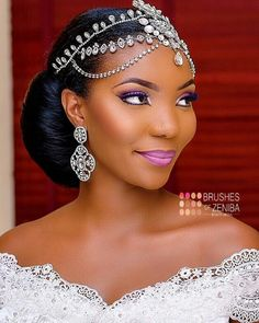 - How beautiful is by Hair by Dress n accessories by Captured by Black Brides Hairstyles, Black Bridesmaids Hairstyles, Natural Wedding Hairstyles, Sew In Hairstyles, Bride Hairstyles, Bridesmaid Hair, Bride Tiara, Headpiece Wedding, Bridal Headpieces
