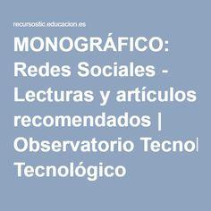 Redes Sociales - Observatorio Tecnológico; Pinterest és recomanant per col·leccionar imatges...L'article necessita posar-se al dia (2012).