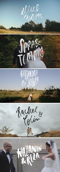 Custom Wedding Type for Videos. Collaboration between Tomasz Wagner and Alicia Carvalho | www.alicia-carvalho.com