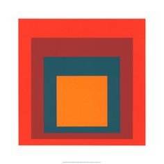 Study for Homage to the Square, c.1954 #serigraph by Josef Albers #art #print
