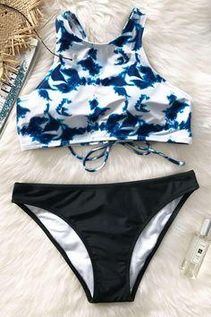 #CupShe - #CUPSHE Cupshe Dim Moonlight Tank Bikini Sets - AdoreWe.com
