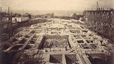 Construction du Sacré-cœur en 1882....reépinglé par Maurie Daboux ❥•*`*•❥