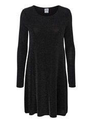 LONG SLEEVED SHORT DRESS, Black