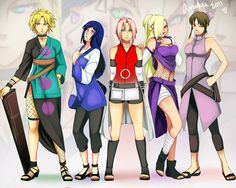 Temari, Hyuga Hinata, Haruno Sakura, Yamanaka Ino and Tenten. Anime Naruto, Naruto Girls, Naruto Sasuke Sakura, Anime Manga, Naruhina, Boruto, Shikatema, Hinata Hyuga, Naruto Shippuden