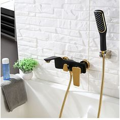 Best Tub Wall Mount Contemporary Hand Shower Bathtub Faucet