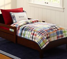 Madras Toddler Quilted Bedding | Pottery Barn Kids Quilt Oliver