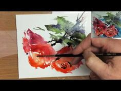 Simple Loose Watercolours 'Scarlet Roses' with Andrew Geeson - YouTube