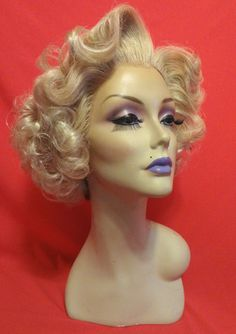 SANDRA DEE WIG! Custom Lace Front Professional Costume Wig- Drag Queen, Celebrity Impersonator, Burlesque, Pinup 1950's 60's Golden Blonde