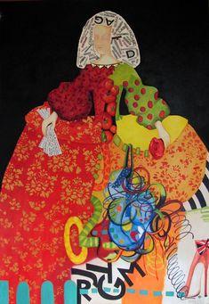 Menina Party & Art Oil on Canvas / Mixed X 130 cm Art Gallery, American Art, Canvas Collage, Latin American Art, Art, Arts And Crafts, Contemporary Art, Figurative Art, Interesting Art