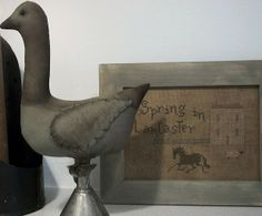 Our Pioneer Homestead: *Free Primitive Goose Pattern*- Today's Spring Craft Of The Day!