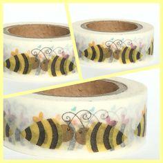 Masking Tape Washi Tape Bienen von Fitzi Flöt auf DaWanda.com