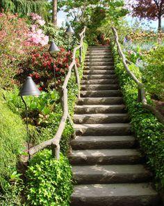 Luxury garden stairs