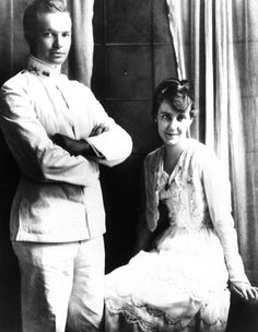 Dwight D. and Mamie Eisenhower  Dwight D. Eisenhower is shown with his bride, Mamie, shortly after their wedding in Denver, Colorado, July 1, 1916.