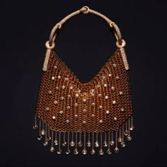 From €500,000 a bag made from woven mesh of rose gold and white gold studded with diamonds #Hermes #Nausicaa