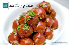 S&L's Favorite Meatballs | Big Bang Bites | bigbangbites.com | Tender baked turkey meatballs made with a surprise ingredient and smothered w...