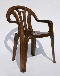 'plastic chair in wood' by maarten baas, 2008
