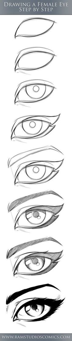REALISTIC eye drawing in 3 steps. Now it's easier to draw a picture! # In # steps # Now # drawing # draw REALISTIC eye drawing in 3 steps. Now it's easier to draw a picture! # In # steps # Now # drawing # draw Pencil Art Drawings, Art Drawings Sketches, Cool Drawings, Drawing Faces, Pencil Sketching, Eye Drawings, Drawing Techniques, Drawing Tips, Painting & Drawing