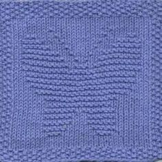 Butterfly Knit Dishcloth